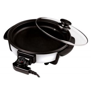 Cuisinier deluxe pizzapan met glazen deksel 30 cm