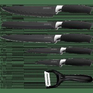 Royalty-Line 5-delige messenset zwart kookmania prijstechnisch non stick coating
