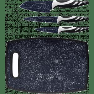 Messenset 3-delig inclusief snijplank zwart