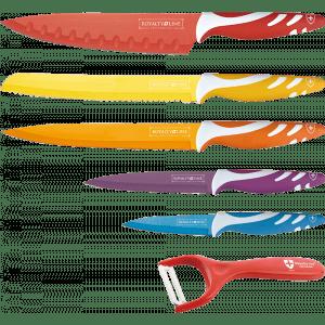 Gekleurde messenset Royalty-Line 5-delig kookmania prijstechnisch