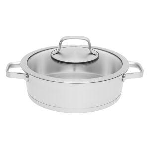 Berghoff braadpan met dubbele handgreep en deksel Manhattan 24 cm Essentials