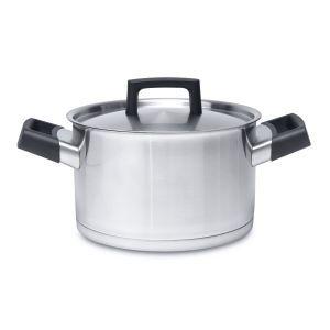 Kookpot met deksel roestvrij staal 20 cm